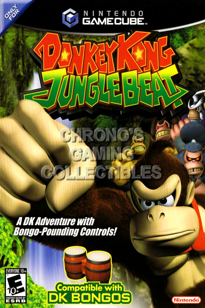 CGC Huge Poster - Donkey Kong Jungle Beat - Nintendo GameCube GC - NGC010