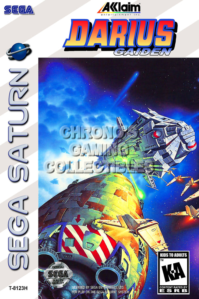 CGC Huge Poster - Darius Gaiden BOX ART - Sega Saturn  - SAT018