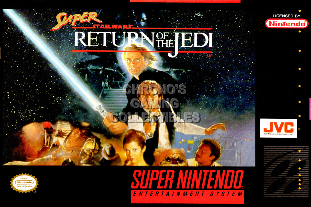 CGC Huge Poster -  Super Star Wars Return of the Jedi Super Nintendo SNES Box Art - SNES38