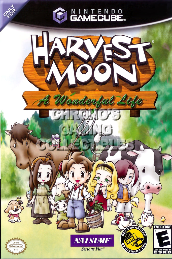 CGC Huge Poster - Harvest Moon A Wonderful Life BOX ART - Nintendo GameCube GC - NGC018