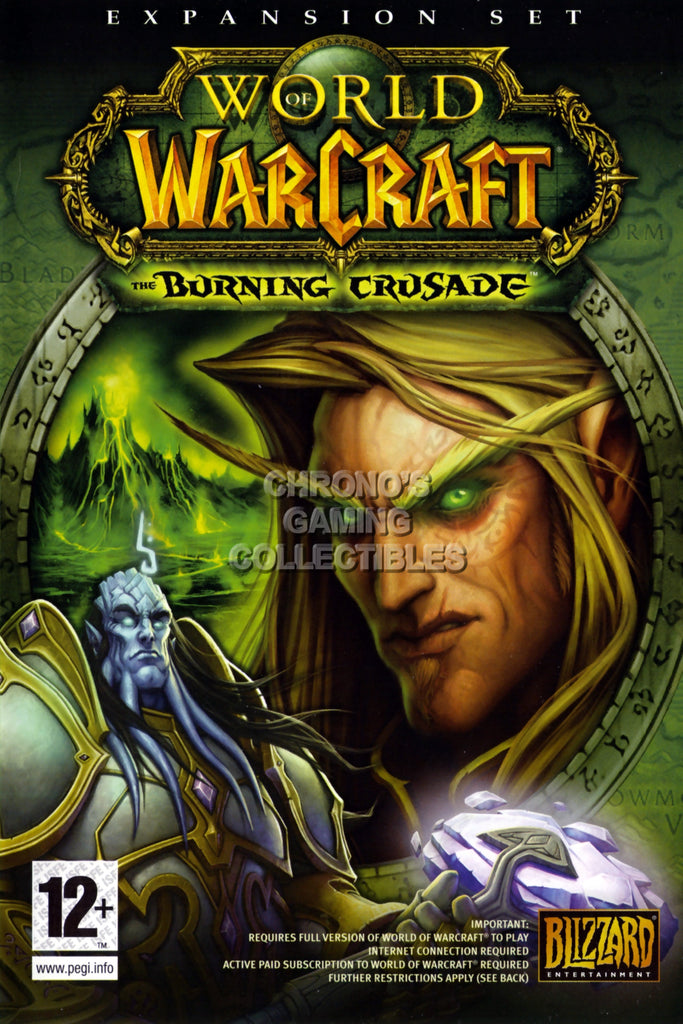 CGC Huge Poster - World of Warcraft Burning Crusader BOX ART PC - EXT176
