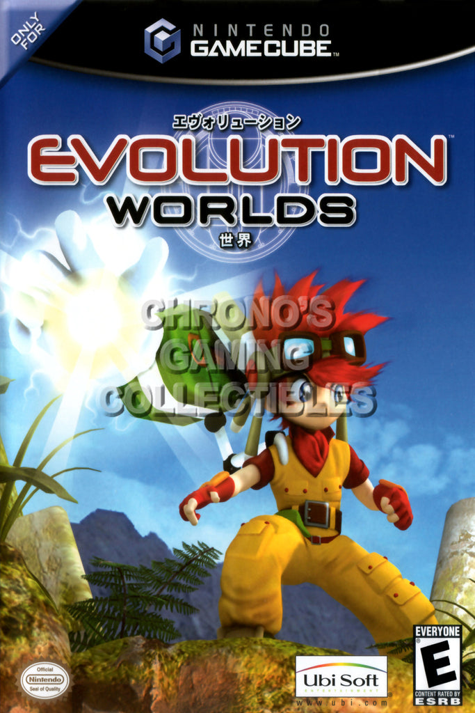 CGC Huge Poster - Evolution Worlds BOX ART - Nintendo GameCube GC - NGC013