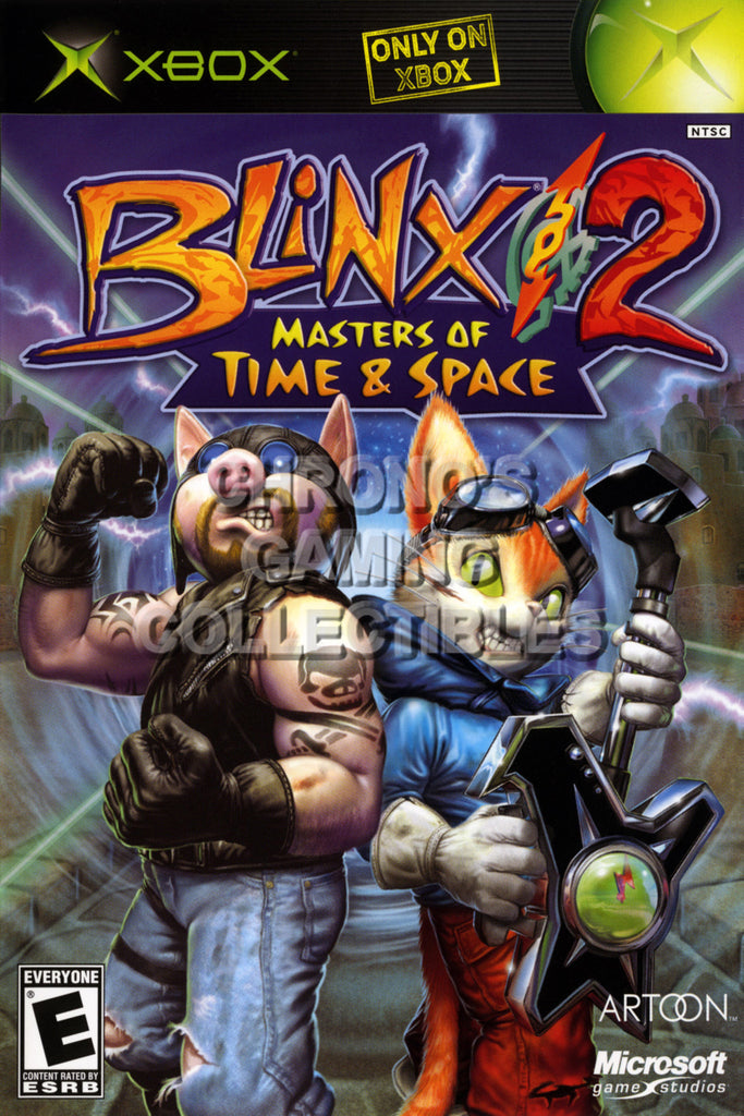 CGC Huge Poster - Blinx 2 Masters of Time and Space BOX ART - Original XBOX - XBX005