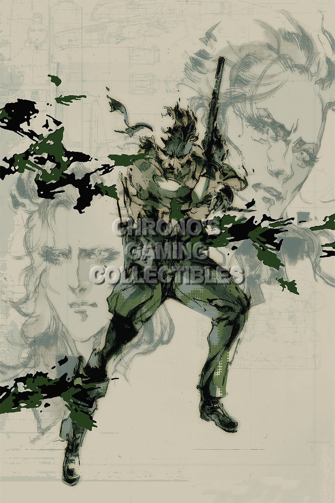 CGC Huge Poster - Metal Gear Solid 3 PS2 PS3 - MGS303