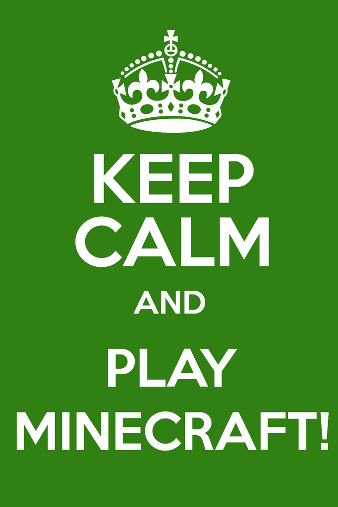 CGC Huge Poster - Minecraft Keep Calm XBOX 360 ONE PS3 PS4 PC - MIC008
