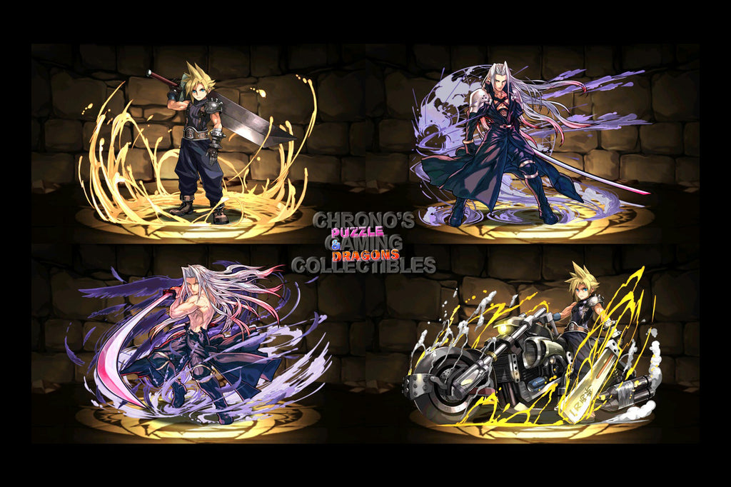 CGC Huge Poster - Puzzle and Dragons (PAD) Cloud and Sephiroth- PAD065