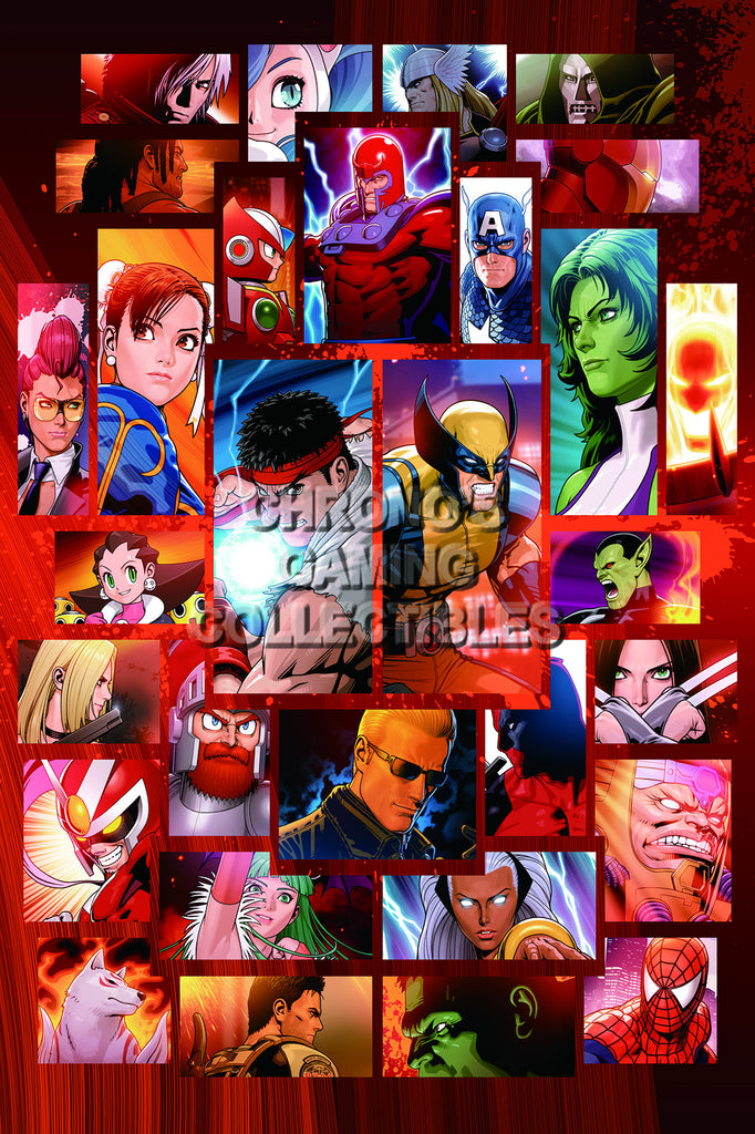 CGC Huge Poster - Marvel vs Capcom 3 Ultimate PS3 XBOX 360 - MVC007