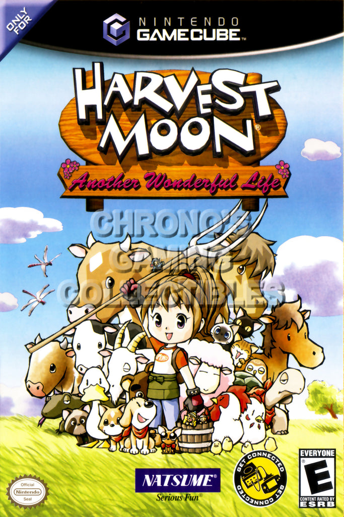 CGC Huge Poster - Harvest Moon Another Wonderful Life BOX ART - Nintendo GameCube GC - NGC019