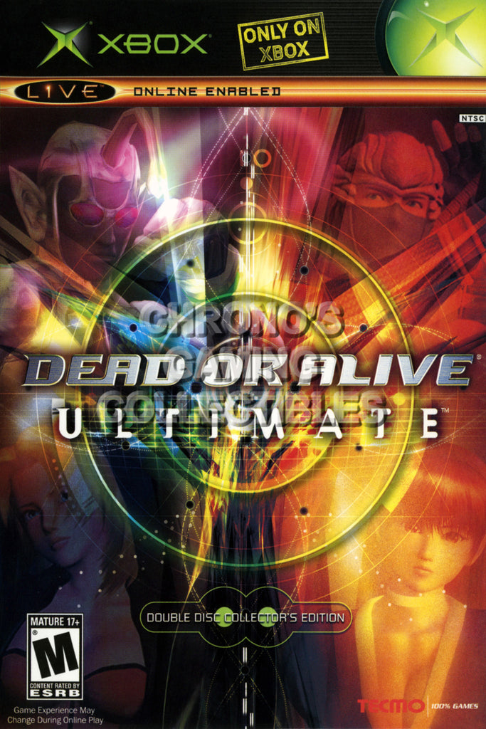 CGC Huge Poster - Dead or Alive Ultimate CE BOX ART - Original XBOX - XBX023