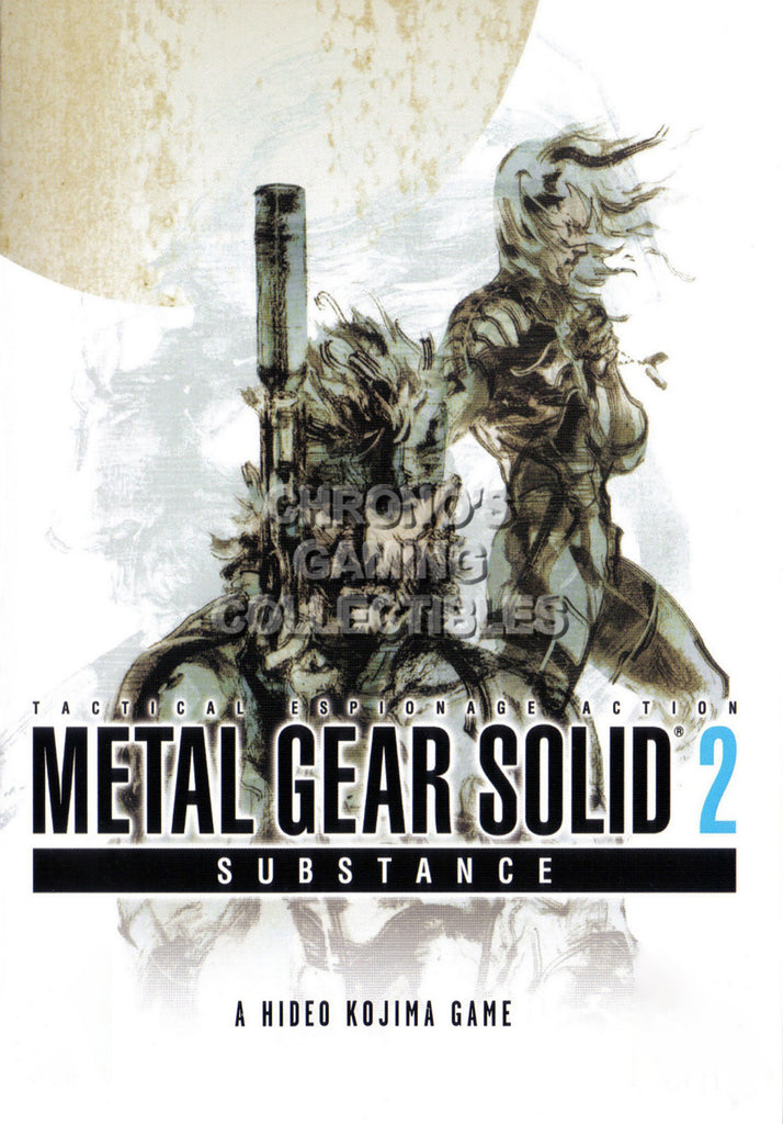 CGC Huge Poster - Metal Gear Solid 2 PS2 PS3 - MGS205
