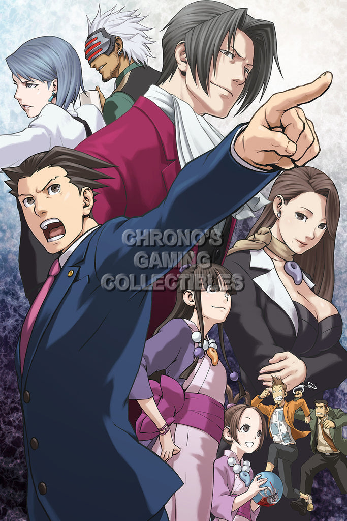 CGC Huge Poster - Phoenix Wright Ace Attoney Nintendo DS 3DS Wii U IOS - PHW011