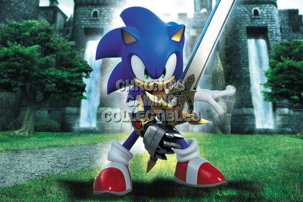 CGC Huge Poster - Sonic and the Black Knight Nintendo Wii - SON019