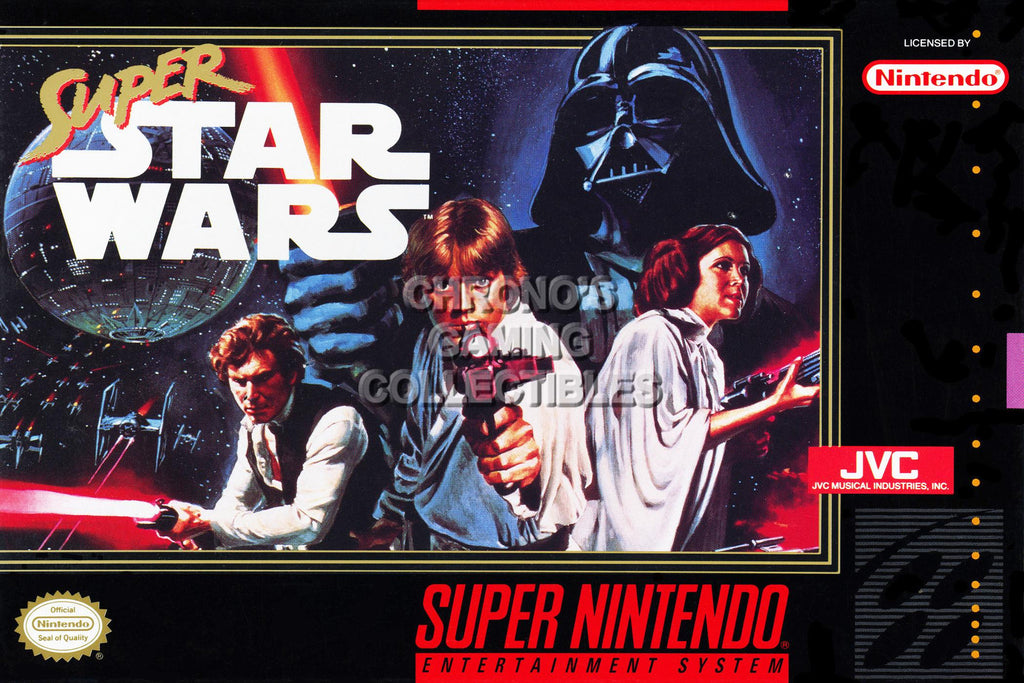 CGC Huge Poster -  Super Star Wars Super Nintendo SNES Box Art - SNES39