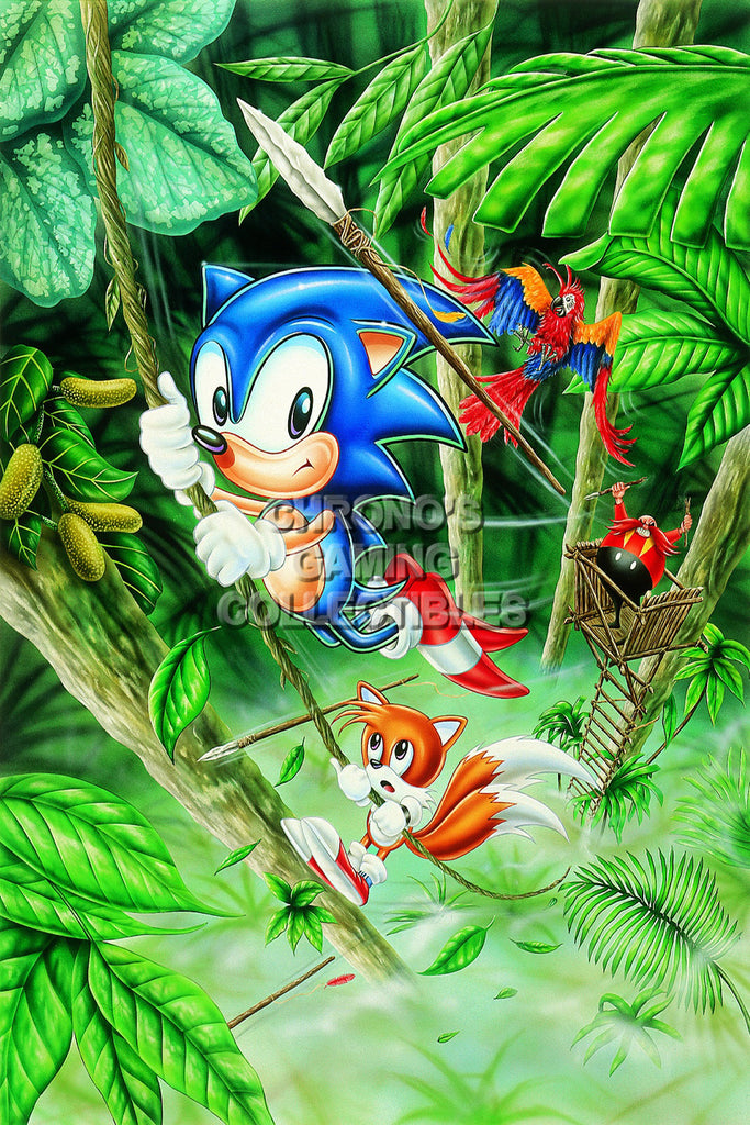 CGC Huge Poster - Sonic the Hedgehog Sega Genesis CD Dreamcast - SON010
