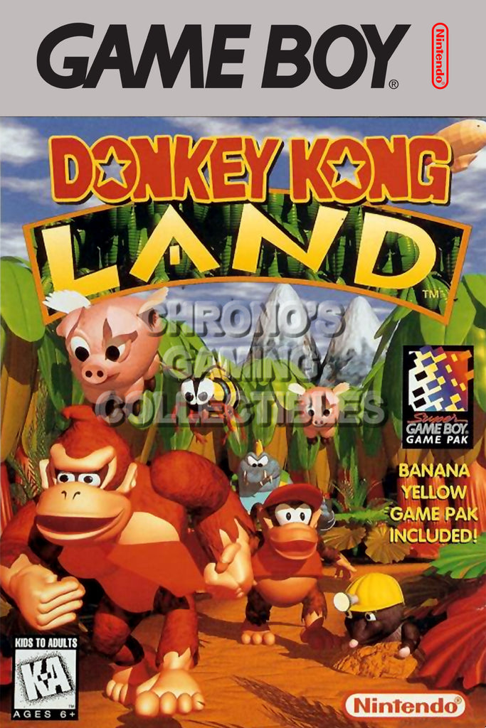 CGC Huge Poster - Donkey Kong Land Original Nintendo Gameboy Box Art- GBO013