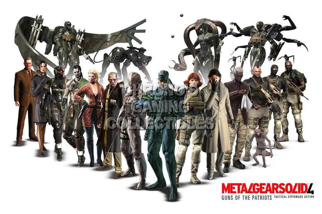 CGC Huge Poster - Metal Gear Solid 4 - Characters - MGSO08
