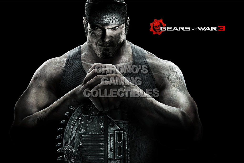 CGC Huge Poster - Gears of War 3 Marcus Felix XBOX 360 - GAS020