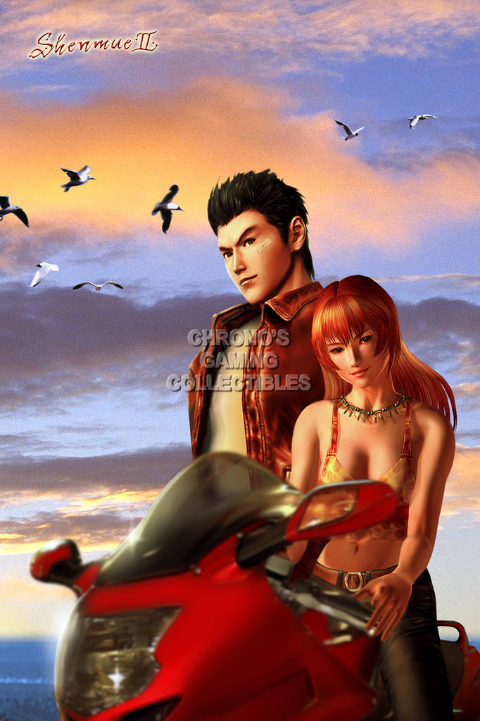 CGC Huge Poster - Shenmue II Ryo and Joy Dreamcast Xbox - SHE003