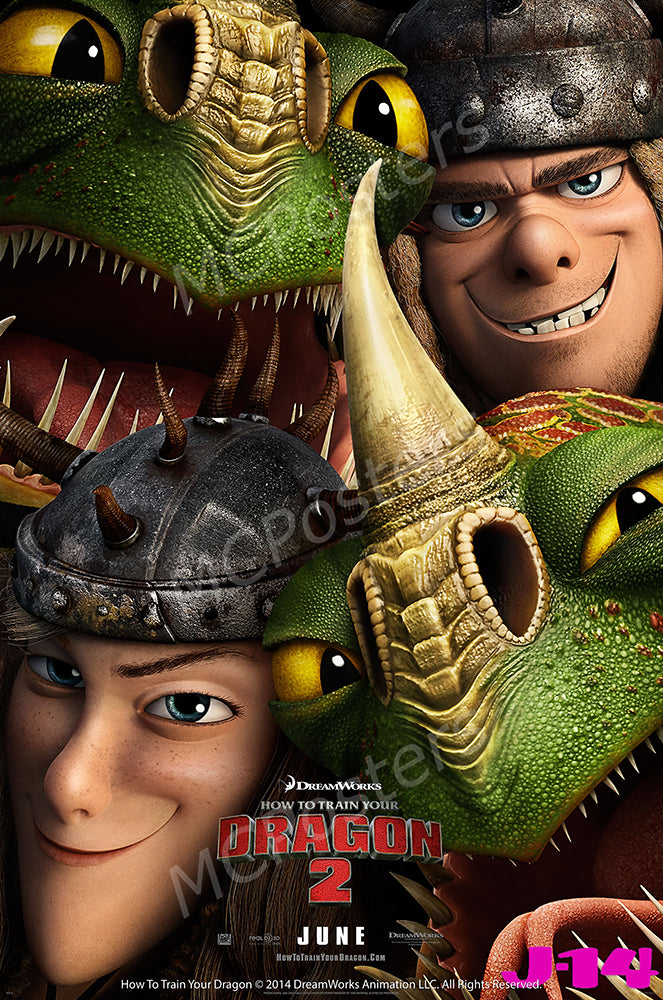 MCPosters - DreamWorks How To Train Your Dragon 2 GLOSSY FINISH Movie Poster  - MCP912