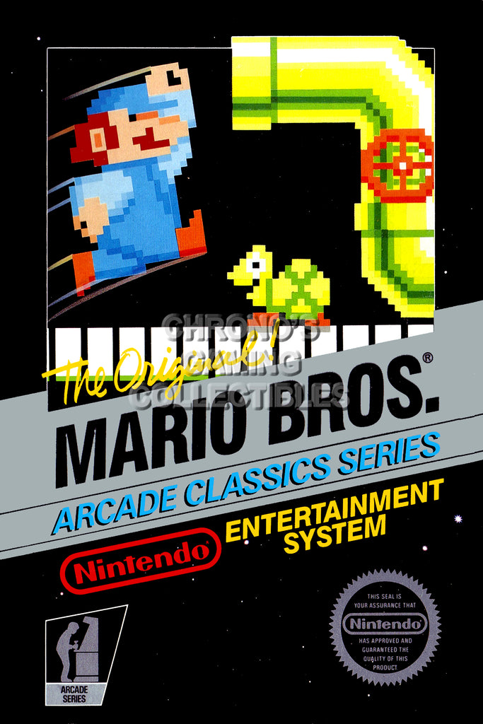 CGC Huge Poster - Mario Bros. Orignal Nintendo NES Box Art - MAR001