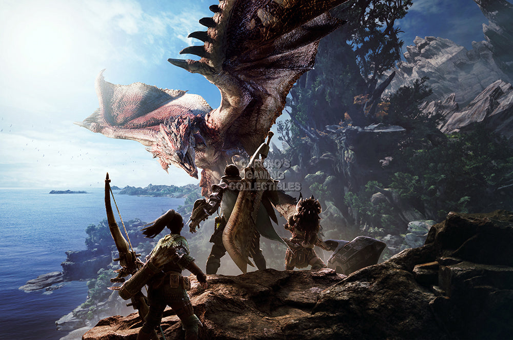 CGC Huge Poster GLOSSY FINISH - Monster Hunter World PS4 XBOX ONE - EXT934
