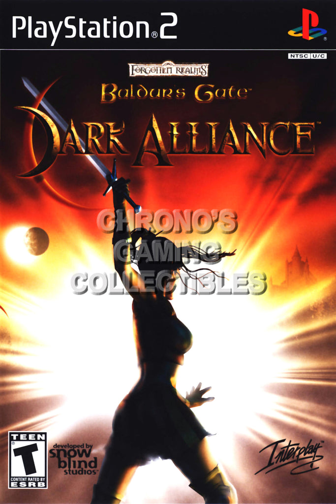 CGC Huge Poster - Baldurs Gate Dark Alliance II - BOX ART Sony Plastation 2 PS2 - PS2025