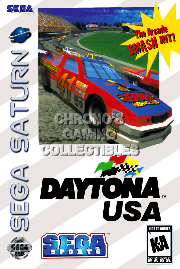 CGC Huge Poster - Daytona USA BOX ART - Sega Saturn  - SAT022