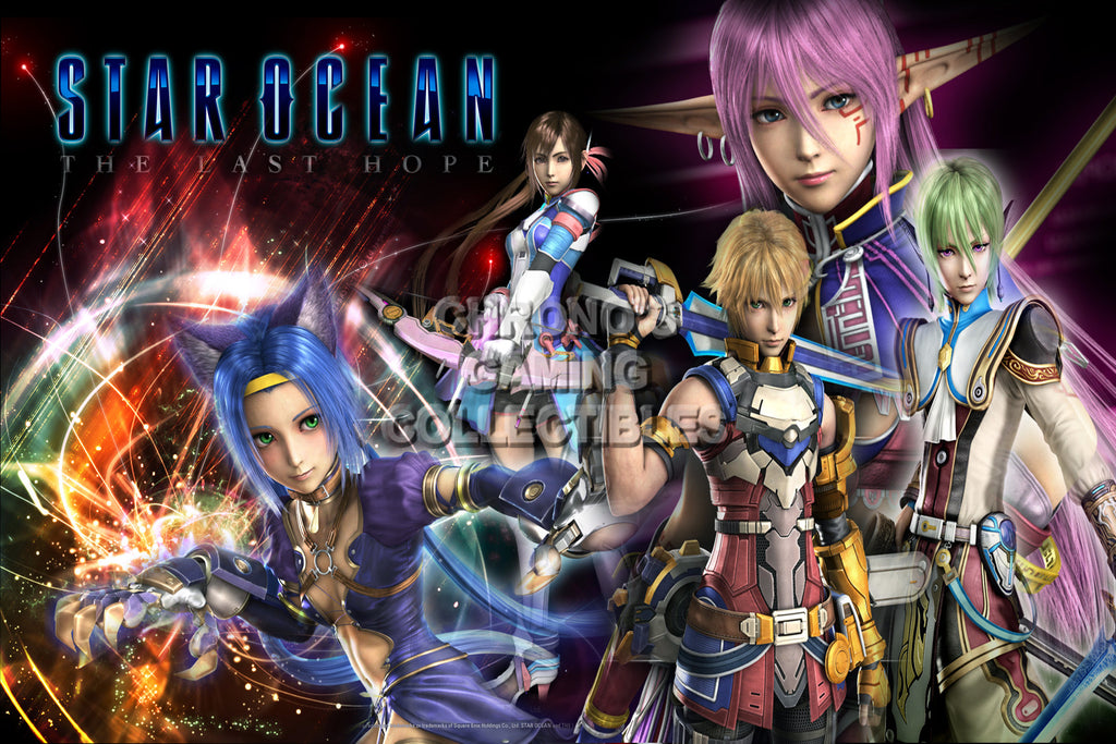 CGC Huge Poster - Star Ocean the Last Hope PS1 PS2 PS3 PSP - STAR13