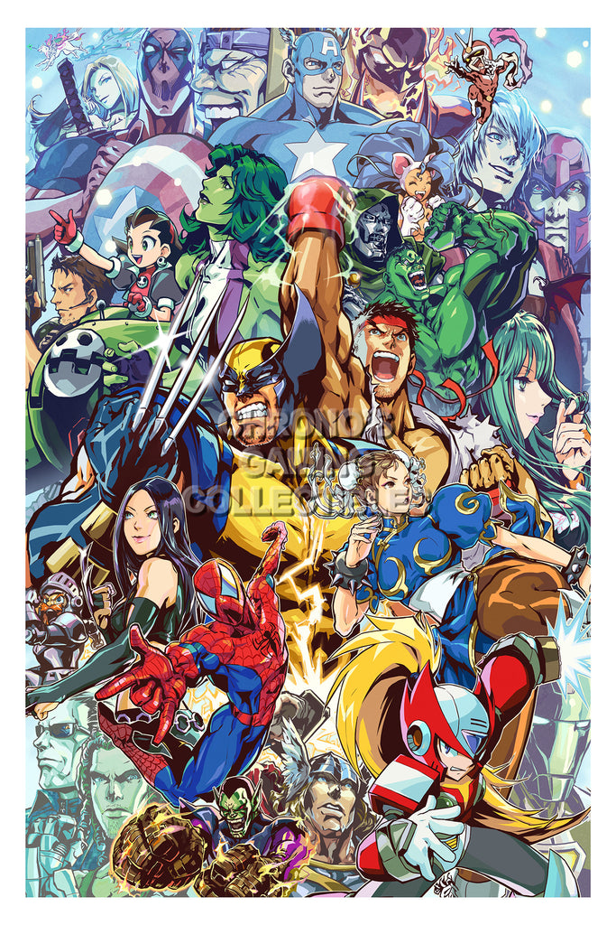 CGC Huge Poster - Marvel vs Capcom 3 Ultimate PS3 XBOX 360 - MVC014