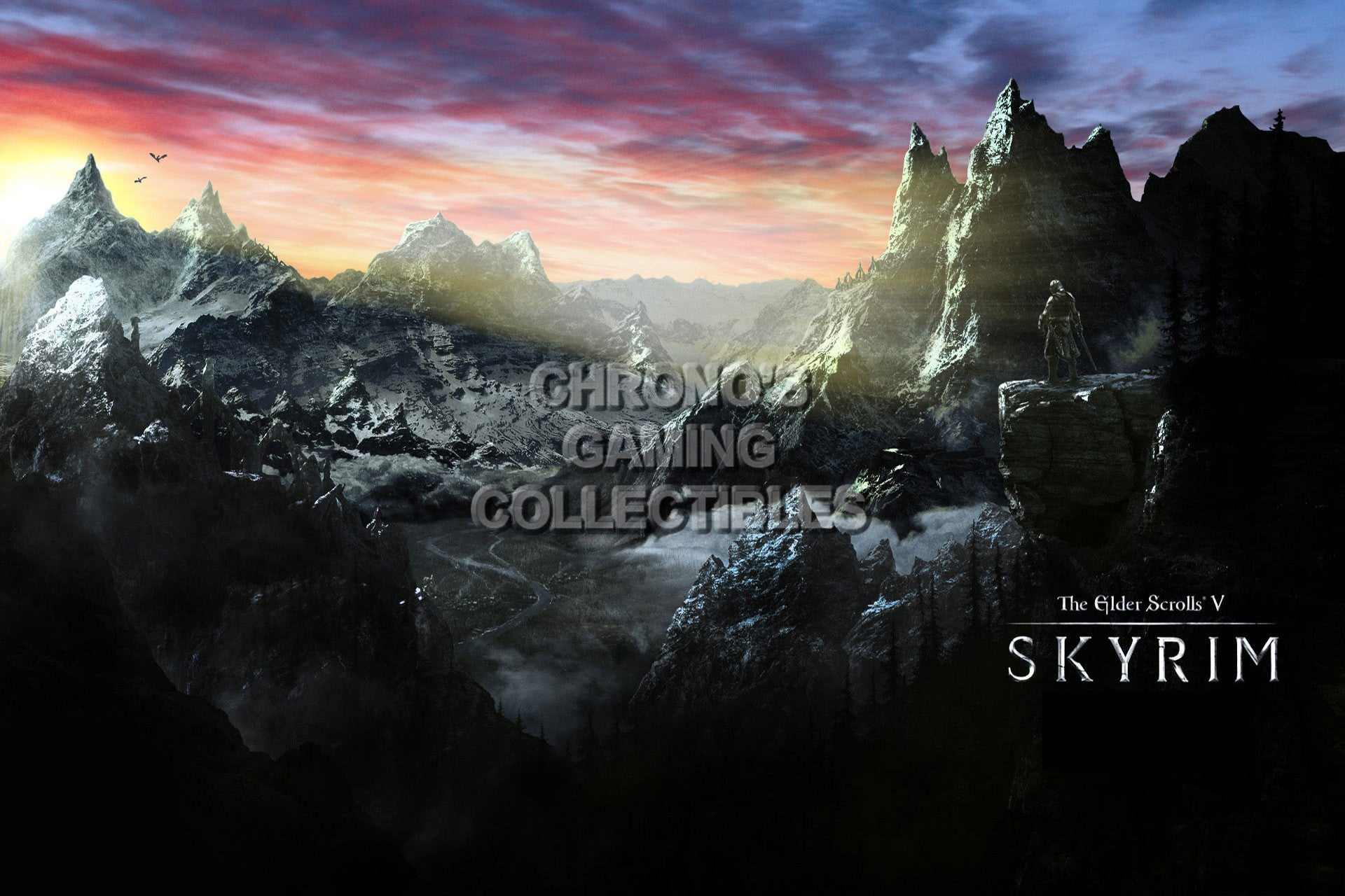CGC Huge Poster - Elder Scrolls V Skyrim Map Dragonborn XBOX 360 ONE PS3  PS4 - EDS036
