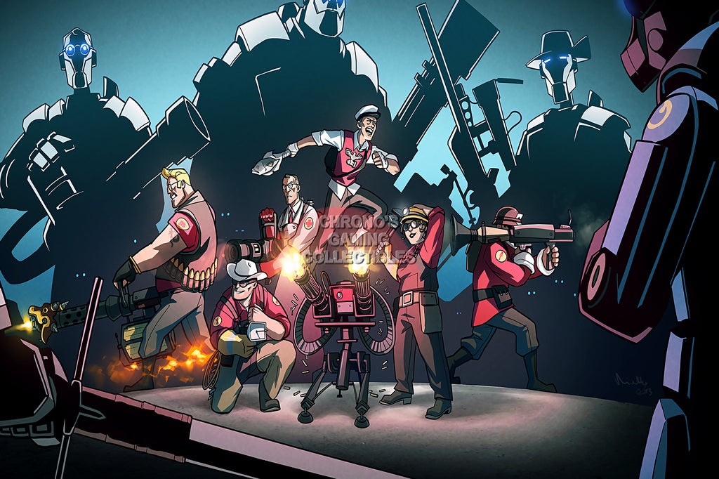 CGC Huge Poster - Team Fortress 2 Mann vs Machine - TF2005