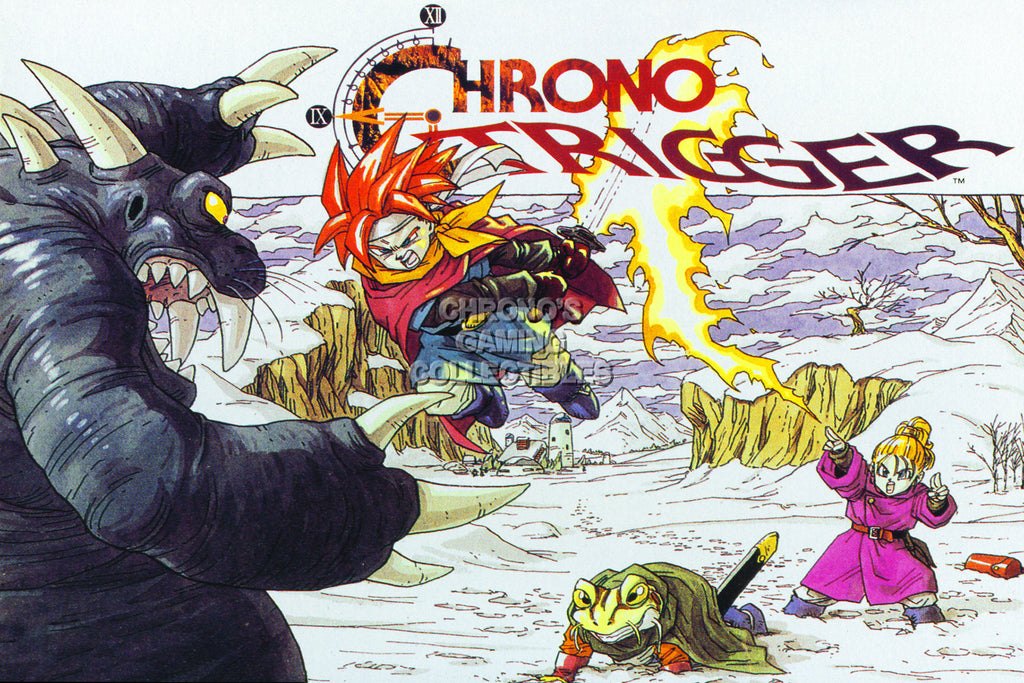 CGC Huge Poster - Chrono Trigger Art Super Nintendo SNES DS - CHO004