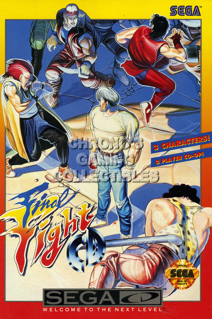 CGC Huge Poster - Final Fight Sega CD - SCD001