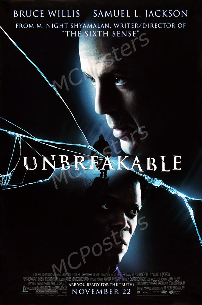 MCPosters - Unbreakable Brace Willis Samuel L Jackson GLOSSY FINISH Movie Poster - MCP925