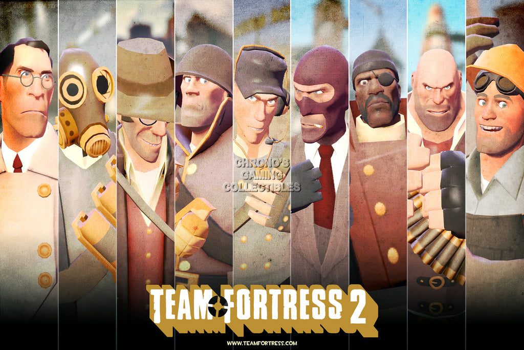 CGC Huge Poster - Team Fortress 2 Classess PS3 XBOX 360 PC - TF2004