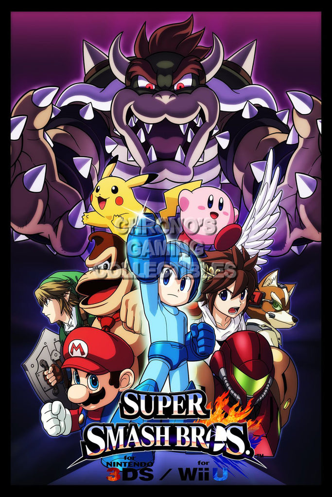 CGC Huge Poster - Super Smash Bros. Wii U 3DS Art 3 - SMA007