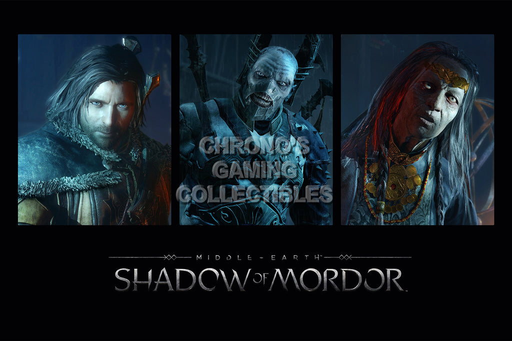 CGC Huge Poster - Shadow of Mordor Characters - PS3 PS4 XBOX 360 ONE - SOM007