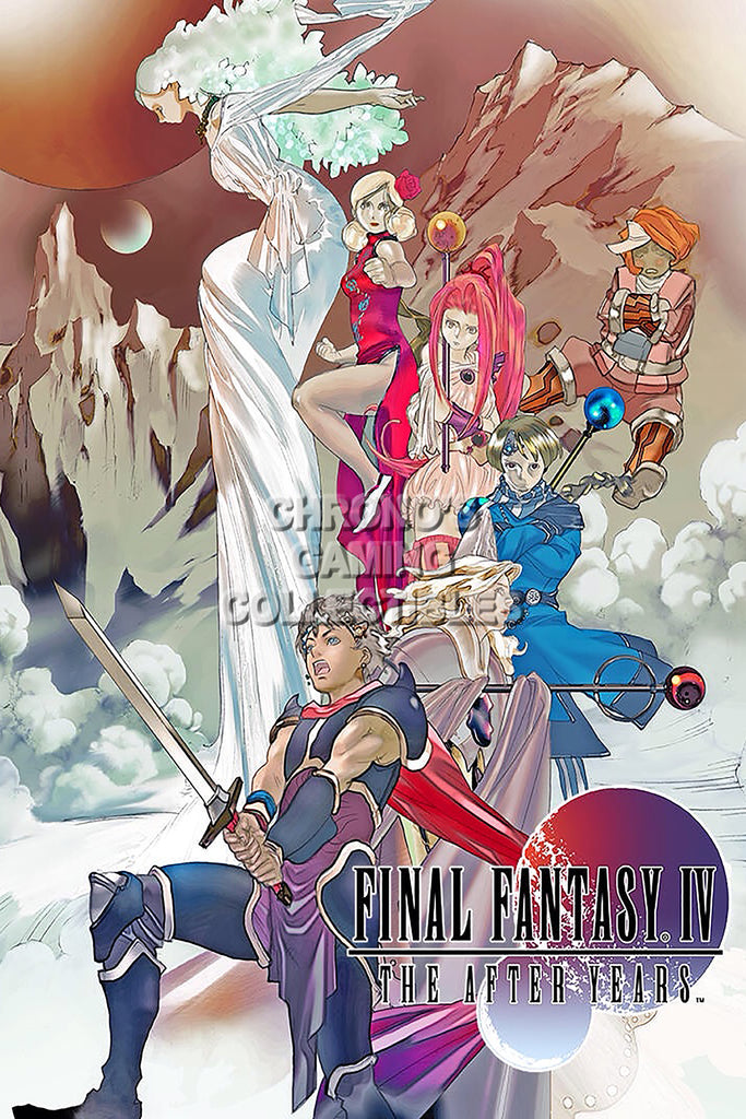 CGC Huge Poster - Final Fantasy IV The After Years PS1 PS2 PSP Nintendo DS GBA - FIV006
