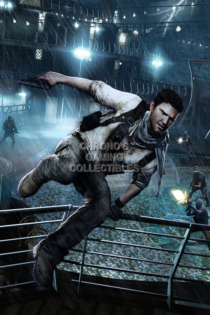 CGC Huge Poster - Uncharted 3 Drake's Deception Drake - PS3 PS4 - UCH033
