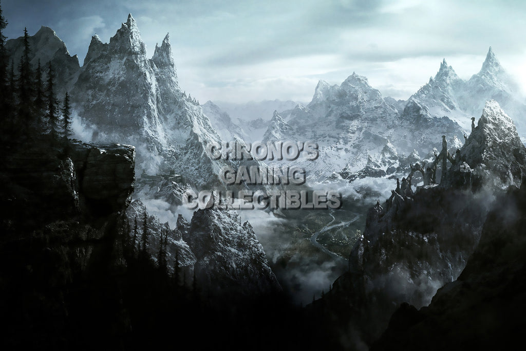 CGC Huge Poster - Elder Scrolls Online Snow Mountain XBOX 360 ONE PS3 PS4 - EDS009