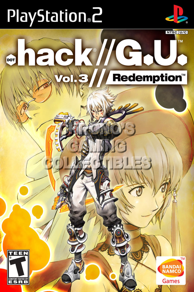 CGC Huge Poster - .Hack G.U. Vol 3 Redemption - BOX ART Sony Plastation 2 PS2 - PS2003