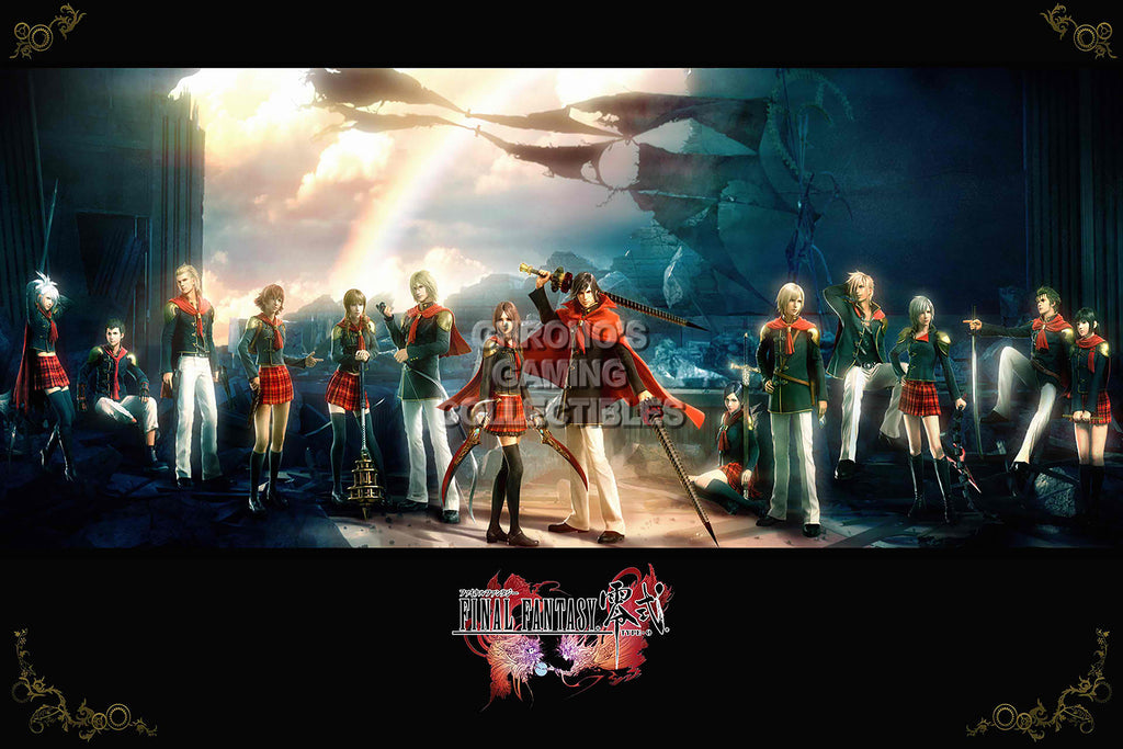 CGC Huge Poster - Final Fantasy Type-0 Zero PS3 PS4 XBOX 360 One - FTZ003