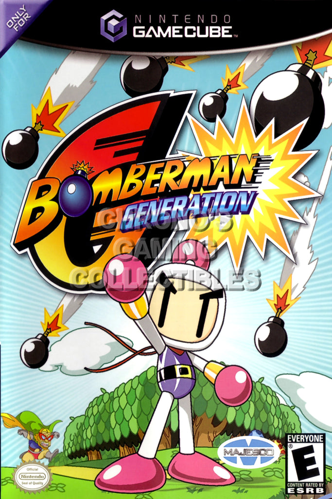 CGC Huge Poster - Bomberman Generation - Nintendo GameCube GC - NGC004