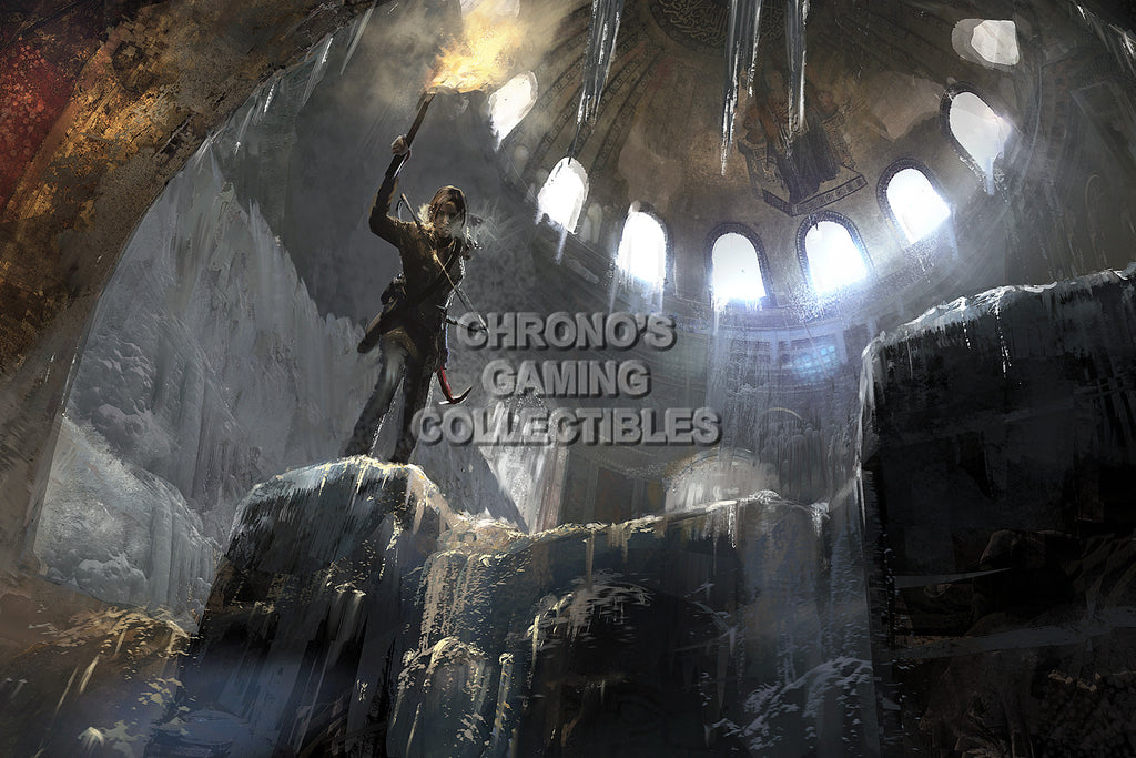 CGC Huge Poster - Rise of The Tomb Raider Concept Art - XBOX ONE PS4 PC - TOM018