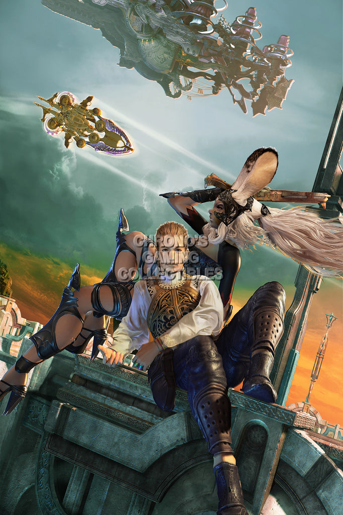 CGC Huge Poster - Final Fantasy XII Balthier and Fran PS2 - FXII004