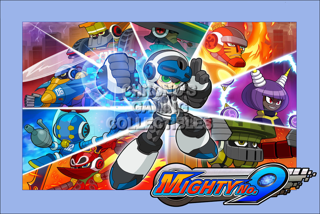 CGC Huge Poster - Mighty No 9 -  PS3 PS4 XBOX 360 ONE Nintendo 3DS WII U - MTN005