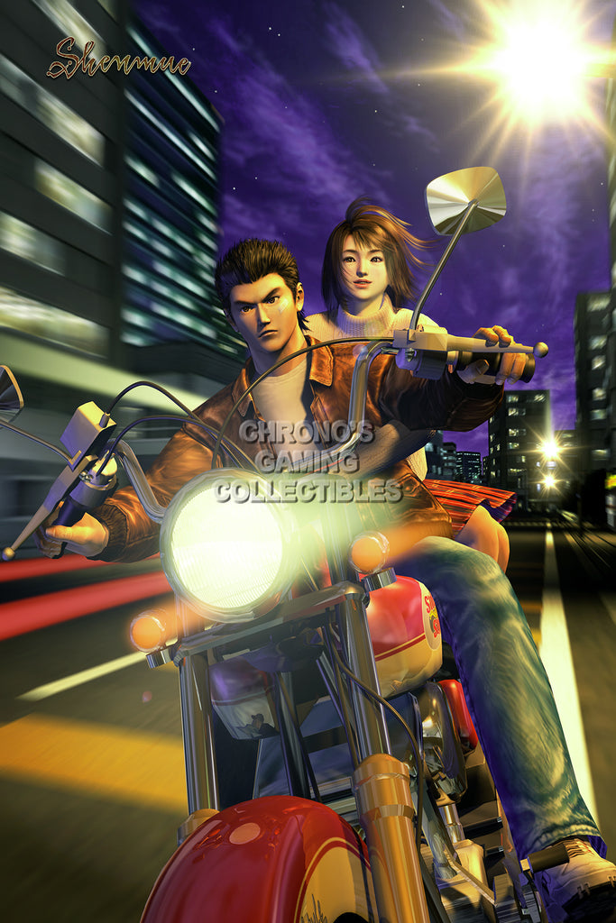 CGC Huge Poster - Shenmue Ryo and Nozomi Dreamcast - SHE008