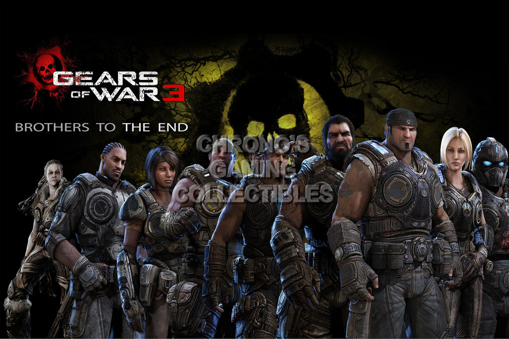 CGC Huge Poster - Gears of War 3 XBOX 360 - GAS014