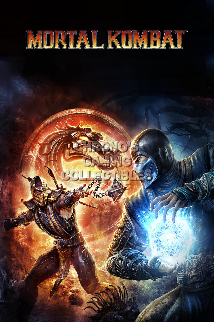 CGC Huge Poster - Mortal Kombat X Cover PS3 PS4 XBox 360 One - MKX069
