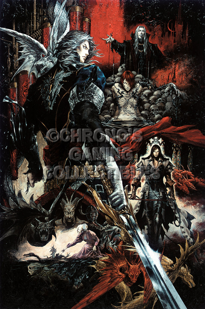 CGC Huge Poster - Castlevania Curse of Darkness Sony PS2 - CAS007